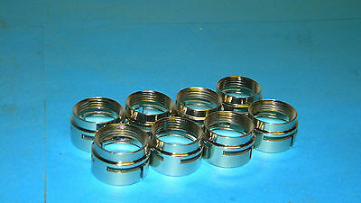 Lot of 8 Abicor Binzel 940.0019 Nozzle Clamping Rings 9400019