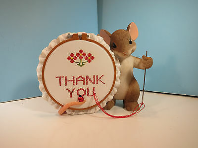 CHARMING TAILS Thank You Sew Much  Mouse Figurine