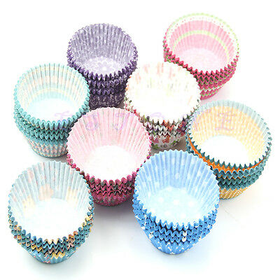 100pcs Original Round Cake Paper Holds Greaseproof Cupcake Baking Cases
