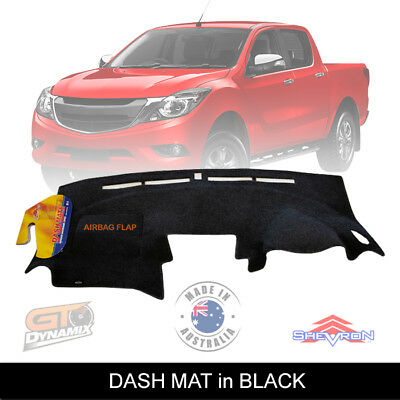 BLACK DASH MAT MAZDA BT50 UP UR GT XT XTR Hi-Rider BT-50 10/2011-2019 DM1246