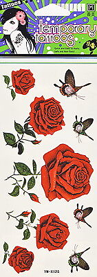Fashion Removable Waterproof Temporary Tattoo Body Art Sticker  ROSES 7