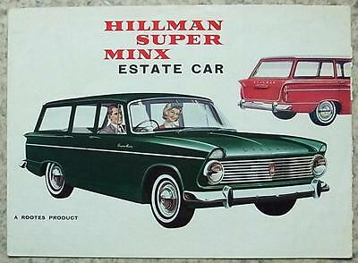 HILLMAN SUPER MINX Estate Car Sales Brochure 1964 #1056/H