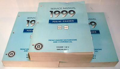 CHEVROLET GMC P32 P42 - Trio of Motor-home and Truck Service Manuals - 1999