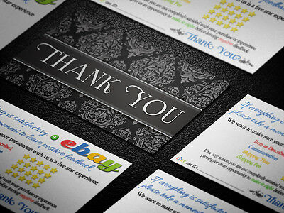 250 PROFESSIONAL Thank You ebay Seller BUSINESS CARDS 5 Five Star Rating ELEGANT