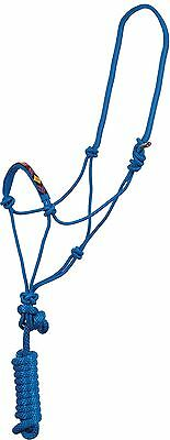 SALE Beaded Rope Halter w/lead Show Rodeo Horse Natural Blue NWT Native Aztec