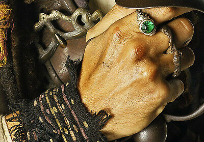 Pirates of the Caribbean Jack Sparrow Skull Ring  Size 9