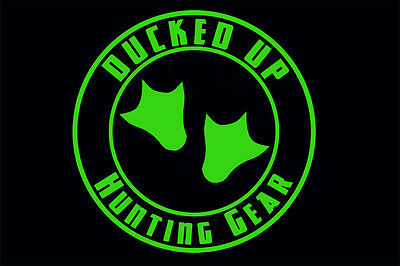 Ducked Up window decal,sticker,decoy,duck,hunting,decoy,call,waterfowl,blind