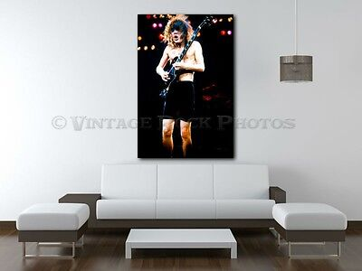 Angus Young AC/DC 20x30 in Fine Art Gallery Canvas Print Photo Framed Gilcee 27