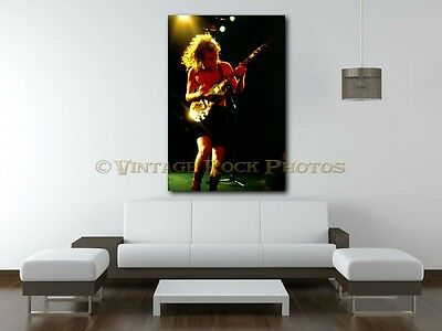 Angus Young AC/DC 20x30 in Fine Art Gallery Canvas Print Photo Framed Gilcee 13