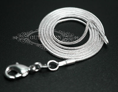 "Whoesale 10/20/50/100PCS 2MM Silver Snake Chain Jewelry Necklace Size 16-24"" New"