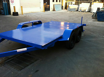 Brand New Flat bed Car Trailer Tandem axle 12FT 2T USE4 RACE FORD HOLDEN QUADS
