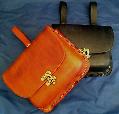 Real Leather Belt Pouch Choice of Colours & Belt Attachment Large Handmade