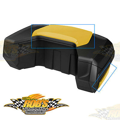 new can am atv storage box for front or rear racks outlander new can am linq 32 gal trunk box panel kit yellow outlander maverick 715001392