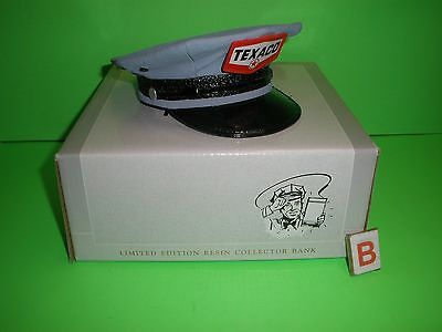 Texaco Attendant's Cap-Hat Bank Replica Poly Resin Fuel Gas Speccast Stk #83001