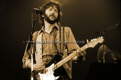 Eric Clapton Photo 8x12 or 8x10 in Vintage '70s Live Concert Pro Fuji Print 70s