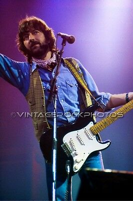 Eric Clapton Photo 8x12 or 8x10 inch Vintage '70s Live Concert Pro Fuji Print 72