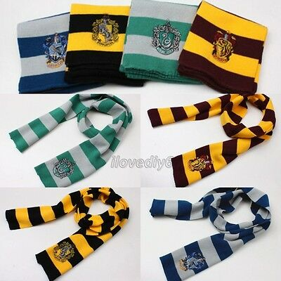 1pc Harry Potter Gryffindor/Slytherin/Ravenclaw House Wool Costume Scarf Wraps
