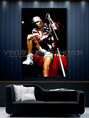 Axl Rose, GNR 24x36 in Poster Photo Ltd Ed Custom Studio Pop Art Design Print  1