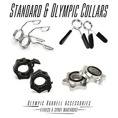 Barbell Dumbbell Collars Olympic Standard Bars Handles Smooth Spring Spin Lock