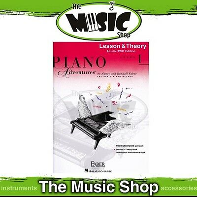 New Piano Adventures Lesson & Theory Level 1 Music Tuition Book - All-In-Two
