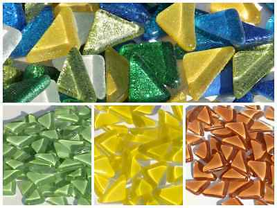 Crystal Glass Polygon Mosaic Tiles / Puzzle Shapes - Various Colours