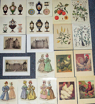 Lot Of 19 Postcards Of Old Prints