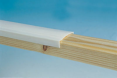 Window Capping 42mm White - 10m Roll - Caravan / Camper   PO642
