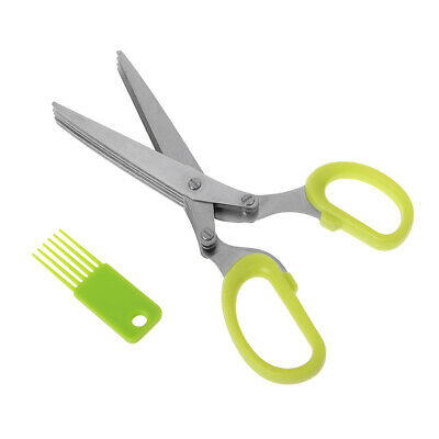 Quality 5 Blade Security Herb or Craft Shredding Scissors Stainless Steel Blades