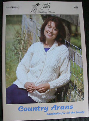 Country Arans Family Knitting Pattern Book (621)