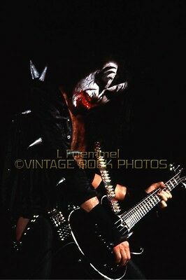 Gene Simmons KISS Photo 8x12 or 8x10 inch '75 Live Concert Print from 35mm Neg