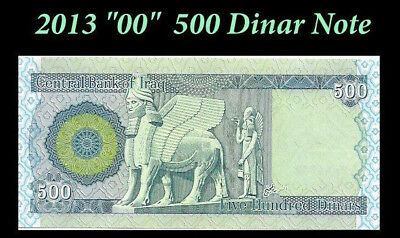 5000 New Iraq Dinar 500 x 10 Iraqi Notes 5,000 Unc. Currency Money Collectable