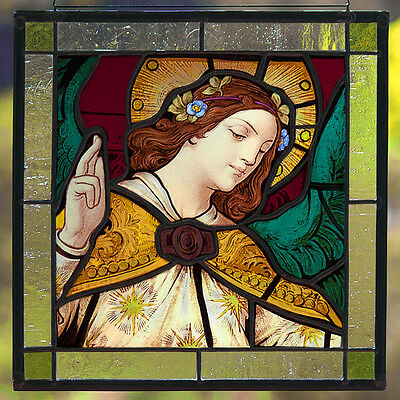 RESERVED - Angel stained glass, kiln fired stained glass, classic stained glass