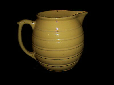 "Weller Pottery Vintage Yellow Ribbed Pattern 6 1/4"" Pitcher"