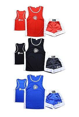 Kids Boxing Set Top & Shorts 2 Pcs Set High Quality Satin Fabric For 5-12 Year