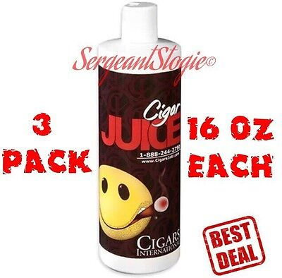 Propylene Glycol PG Solution Cigar Humidors Humidification 3 PACK 16oz BRAND NEW