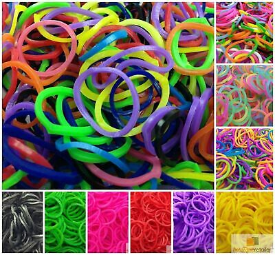 1200 pcs LOOM BANDS Rubber Refill Kit DIY Magical Bracelet 36S Clips,6 Hook New
