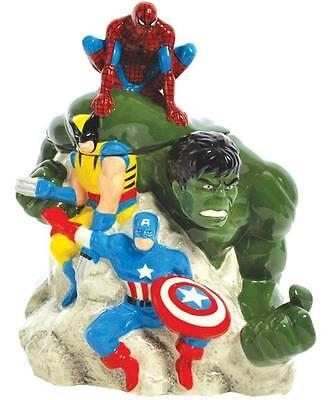 Marvel Superheroes Ceramic Cookie Jar Hulk Spiderman Wolverine Captain America
