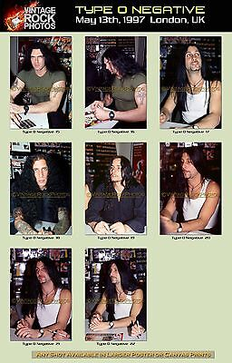 Type O Negative 5X7 inch Photos Lot Set of 13 Prints Candid May 1997 London, UK