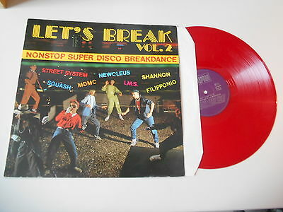 LP VA Let's Break Vol.2 (10 Song) BELLAPHON red vinyl Shannon Nucleus MDMC