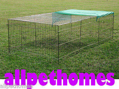X-Large Rabbit Hutch, Guinea Pig Chicken Run, Ferret Cage Play Pen with Cover