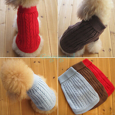 Cute Pet Dog Warm Jumper Sweater Clothes Puppy Cat Knitwear Costume Coat Apparel