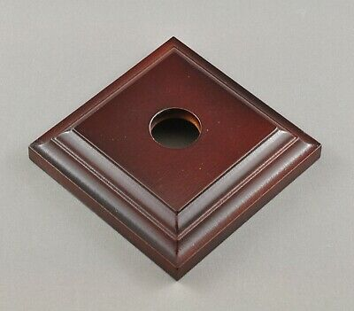 Switch Mounting Block-Single Square-Dark Polished Wood-Federation Victorian