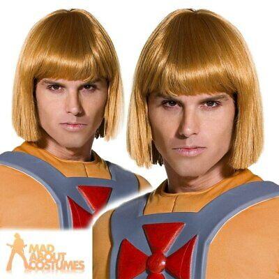 He Man Wig Officially Licensed Blonde Fancy Dress Costume Outfit Accessory