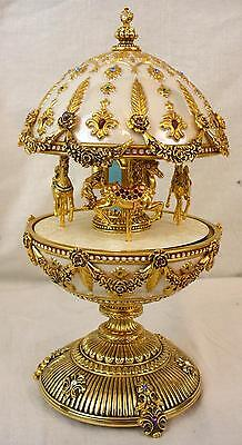 Faberge Imperial Carousel Egg Franklin Mint Parts or Repair