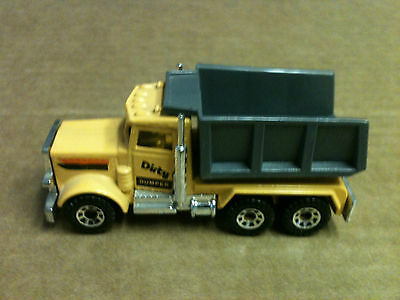 "VINTAGE 1981 MATCHBOX PETERBILT WITH DRIVER DUMP TRUCK 3"" L 1:80"