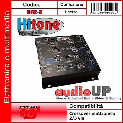 Crossover Elettronico Con Bypass Low-Noise 2-3-4 Canali Hitone Cre-2