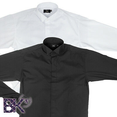 "Formal Wing Collar Shirt, Formal Kilt Shirt, Black or White, Sizes from 15""-18"""