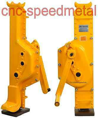 10t Stockwinde Maschinenheber machine lifter ,steel jack capacity 10ton gelb N