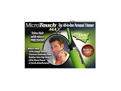 New Micro Touch Max Personal Ear Nose Neck Eyebrow Hair Trimmer Groomer Remover