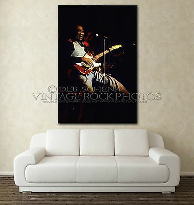 Muddy Waters 20x30 inch Poster Size Photo Live Concert  8-'77 Uptown, KC D7